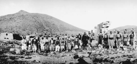 Ausgrabungsmannschaft in Binbirkilise, 1907