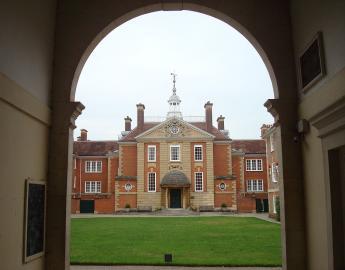Blick auf die Talbot Hall des Oxford-Colleges Lady Margaret Hall