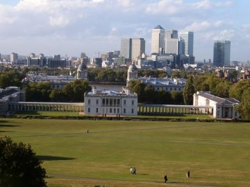 London Skyline in Greenwich