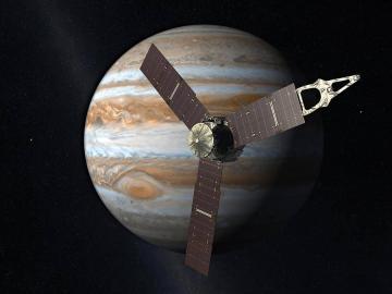 NASA-Raumsonde Junoim Anflug auf den Jupiter
