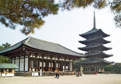 Östliche Halle und Pagode des Kōfuku-ji