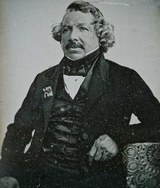 Daguerreotypie von  Louis Jacques Mandé Daguerre,1844