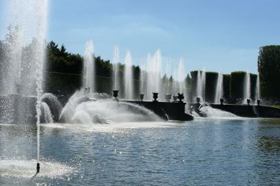 Wasserspiele im Park von Versailles