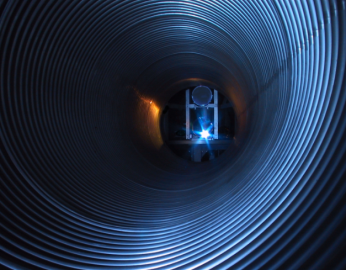 Messstrecke des Gravitationswellen-Detektors GEO600
