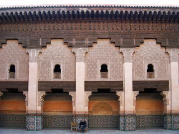 Innenhof der Medersa Ben Youssef.