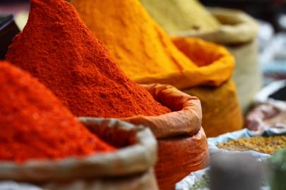 Gewürzmarkt von Marrakesch.