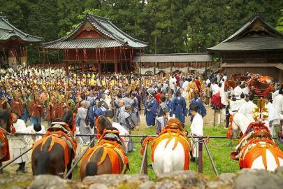 Prozession der tausend Kriege, am zweiten Tag des Frühlingsfests in Nikko.