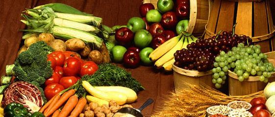 Obst- und Gemüseauswahl