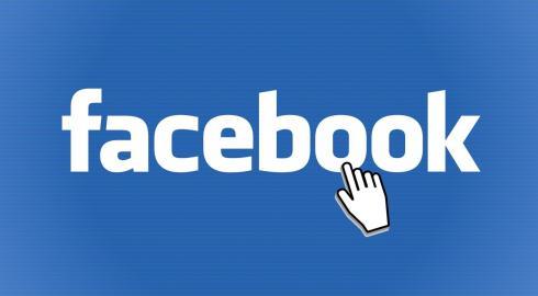 Facebook Logo mit Cursor Icon