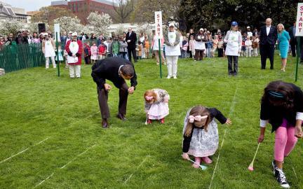 White House Easter Egg Roll auf dem Rasen des Weißen Hauses