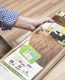 Das PEFC-Siegel findet sich beispielsweise auf Holzprodukten im Baumarkt