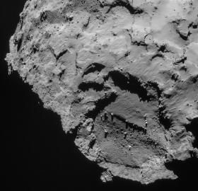 Geplanter Landeplatz von Philae auf dem Kopf des Kometen