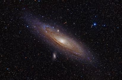 Messierobjekte M31, M32 und M110 sowie NGC 206