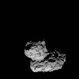 Blick auf den Kometen 67P/Churyumov-Gerasimenko