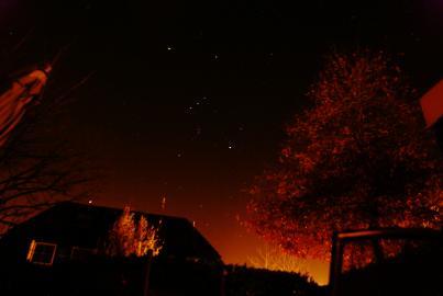 Sterenhimmel mit dem Winter-Sternbild Orion