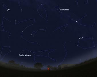 Nördlicher Nachthimmel im Oktober 2015