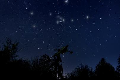 Sternbild Stier am Nachthimmel