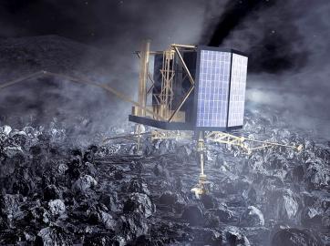Landeinheit Philae auf dem Kometen 67P/Churyumov-Gerasimenko