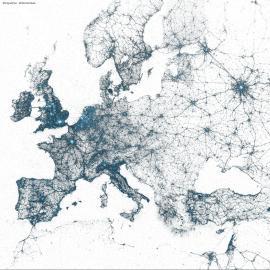 Twitter-Karte von Europa