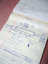 Konzeptskizze des Twitter-Erfinders Jack Dorsey