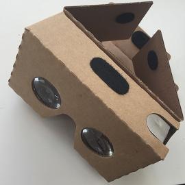 Minimalistisches VR-Brillenkonzept von google