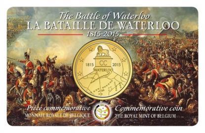 Belgische 2,50 Euro-Gedenkmünze mit Waterloo-Motiv von 2015