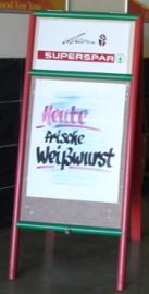 Heute-frische-Weißwurst-Plakat