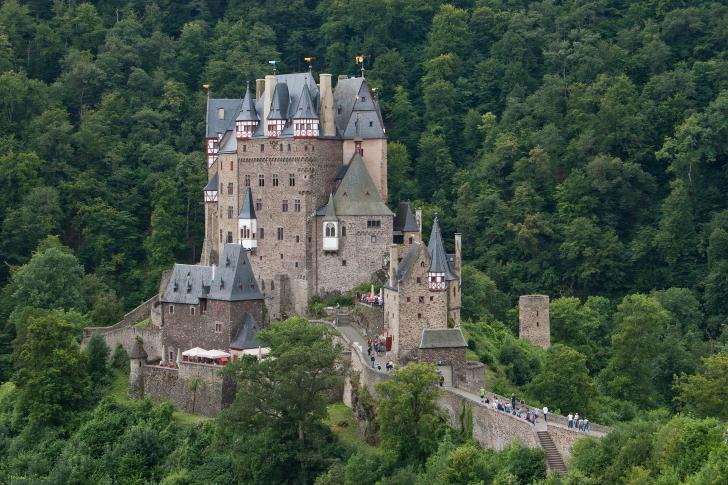 Panorama der Burg Eltz