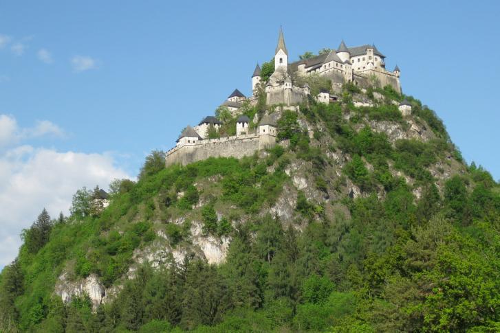 Ansicht der Höhenburg Hochosterwitz in Kärnten