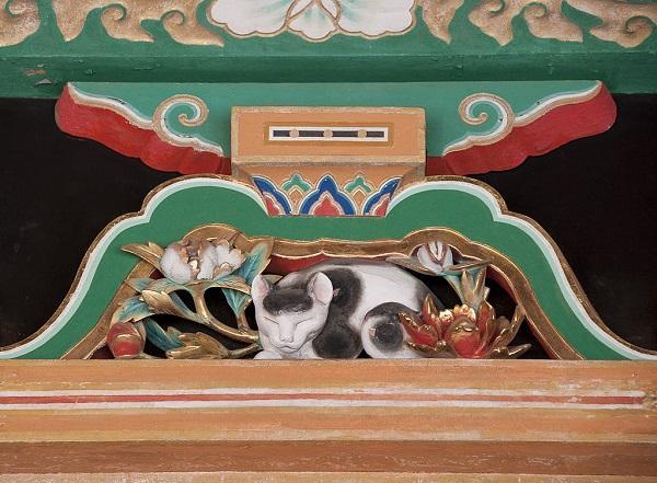 Nemuri-neko im Toshogu-Schrein in Nikko