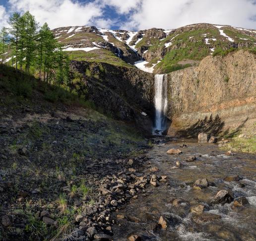 Wasserfall im Putorana-Gebirge