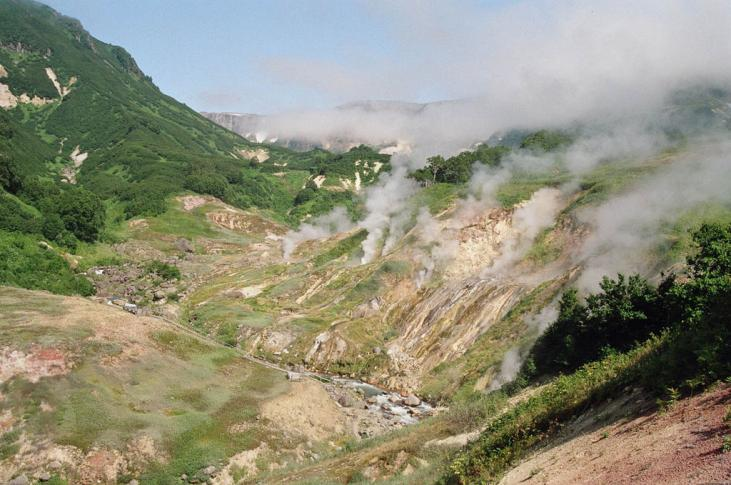 Tal der Geysire in Kamtschtaka