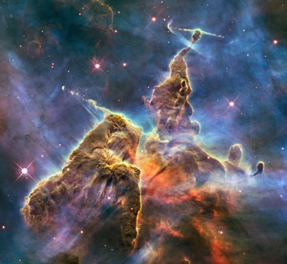 Mystic Mountain, eine 2010 veröffentlichte Aufnahme von Hubble's Wide Field Camera 3