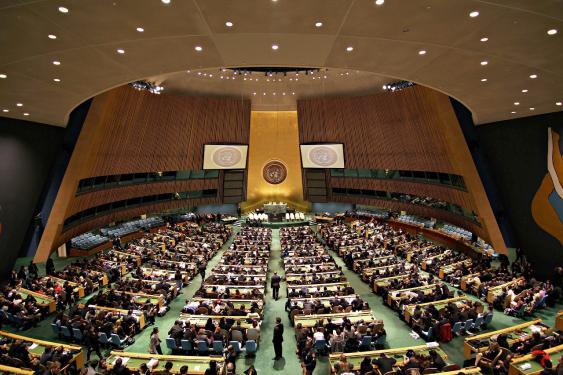 Blick in den Saal der UN-Vollversammlung in New York (2011)