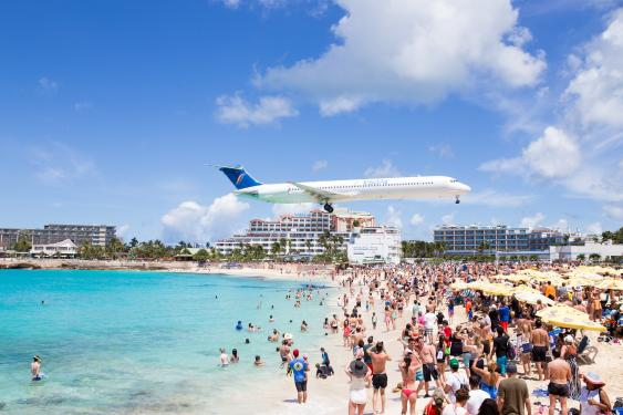 Princess Juliana International Airport auf der Karibikinsel St. Maarten
