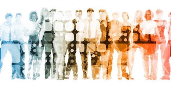 Lineup verschiedenster Personen