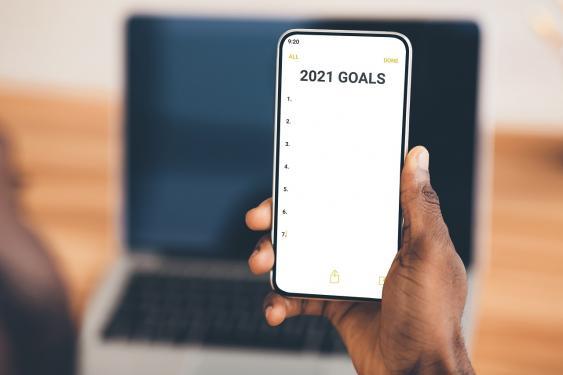App mit Checkliste für Neujahrsvorsätze