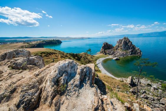 Schamanenfelsen (Skala Schamanka) auf der Insel Olchon