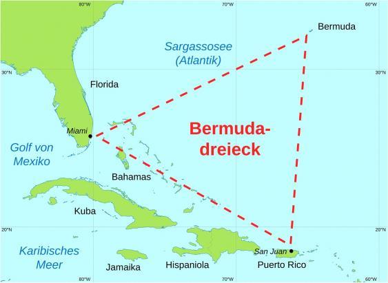 Karte des Bermudadreicks