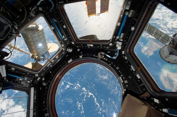 Blick aus der ISS auf die Erde
