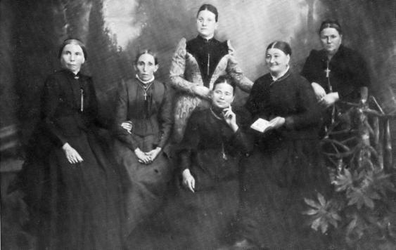 """Gruppenbild des """"Alten Beueler Damenkomitees von 1824"""" (1900)"""