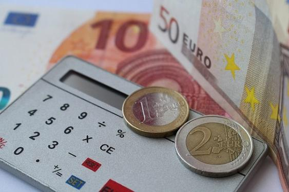 Taschenrechner + Münzen