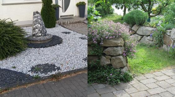 Steingarten und Naturgarten