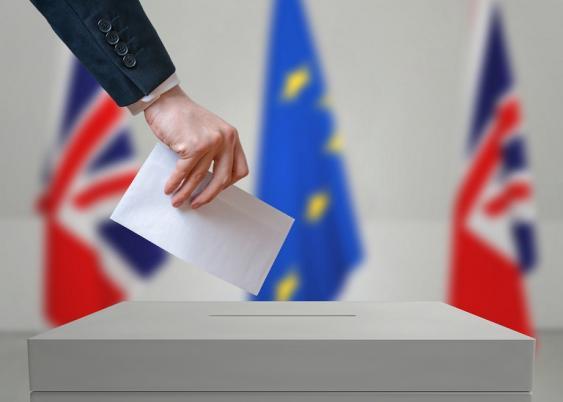 Brexitabstimmung (Wahlurne)