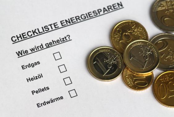 Ausschnitt aus einer Checkliste zum Thema Energiesparen