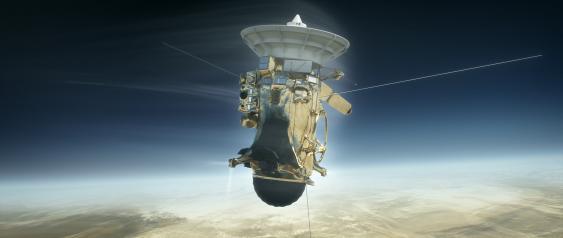 Cassini tritt in die Saturnatmosphäre ein