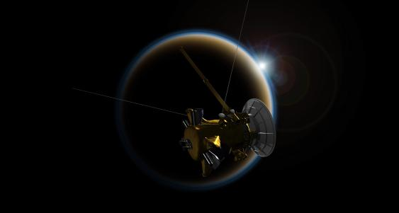 Cassini-Flyby am Saturnmond Titan