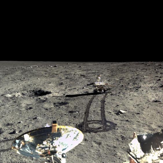 Moonrover Yutu auf der Mondoberfläche, 2013