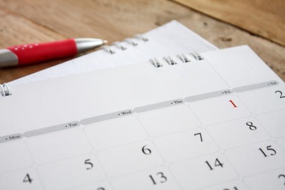 Kugelschreiber und Kalender