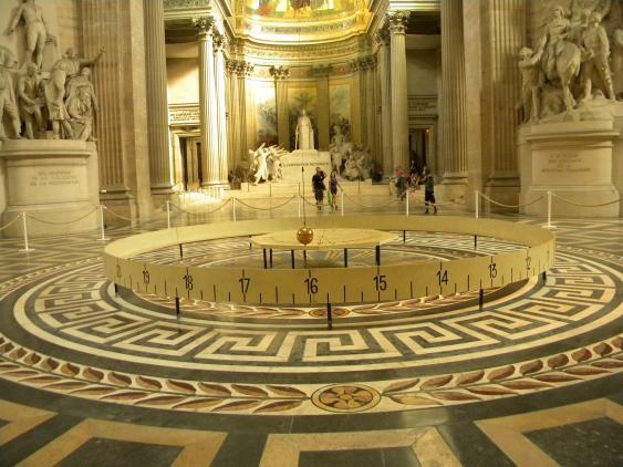 Foucault'sches Pendel unter der Kuppel des Pantheons, Paris.